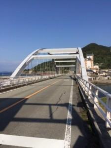 下田温泉街近くの橋からスタート!